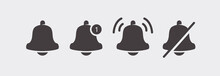 Notification Bell Icons Set Is...