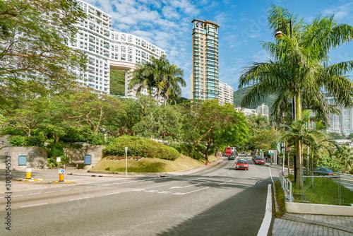 Road along Repulse Bay. Hong Kong. Fototapeta