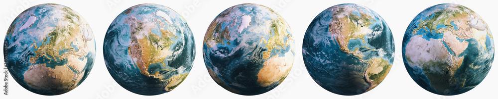 Fototapeta Planet Earth continental cartography