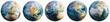 Leinwandbild Motiv Planet Earth continental cartography