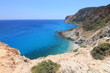 Landscape view of turqouise blue water in Milos, Greece
