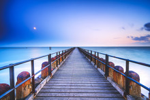 Long Wooden Pier Extends Over ...