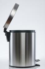 Open Steel Trash Bin
