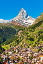 Traditional Houses In Zermatt,...