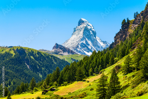 Matterhorn mountain range in Switzerland Canvas Print