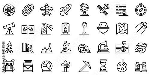 Photo  Exploration icons set