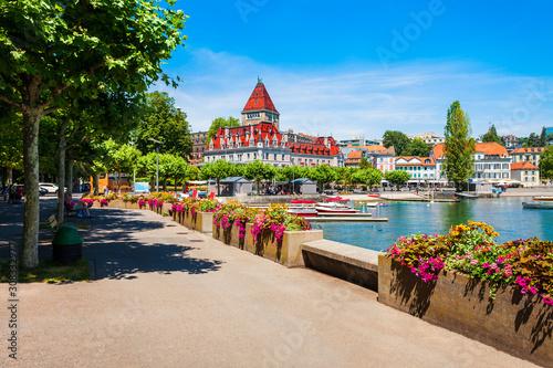 Ouchy Castle promenade, Geneva Lake