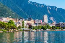 Montreux Town On Lake Geneva