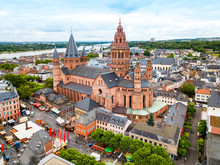 Mainz Cathedral Aerial View, G...
