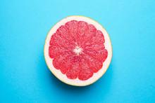 Fresh Cut Grapefruit On Color ...