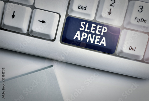 Conceptual hand writing showing Sleep Apnea Wallpaper Mural