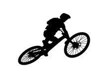 Downhill Mountainbiker At The ...