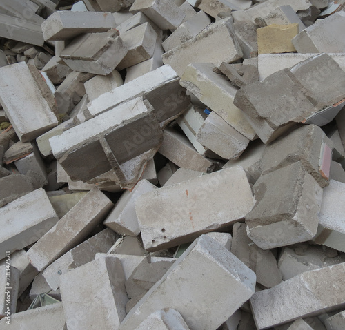 Fototapety, obrazy: grey concrete bricks background