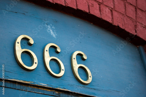 Street address number 666 Canvas Print