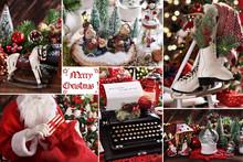 Collage Of Christmas Decoratio...