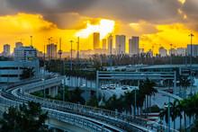Stunning City Skyline Morning ...