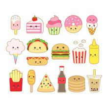 Cute Kawaii Junk Food Drawing ...