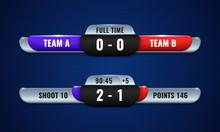 Sport Competition Scoreboard M...