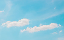 Pastel Blue Sky And Clouds Bea...