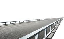 Straight Asphalt Flyover Road ...
