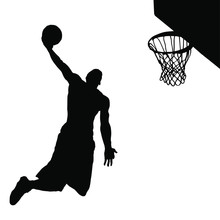 Vector Silhouette Of A Basketb...