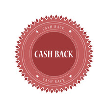 Cash Back Grunge Retro Brown Isolated Stamp On White Background