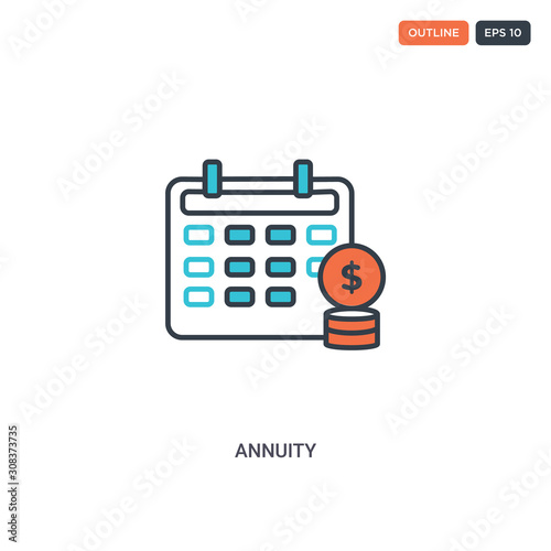 2 color annuity concept line vector icon Wallpaper Mural