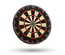 Classic Dartboard Isolated