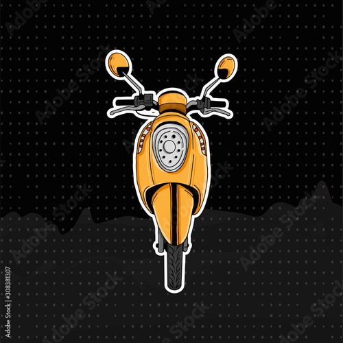 scooter matic motocycle illustration Canvas Print