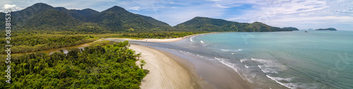 Fotografia coast, trees, sea, panoramic, landscape, vacation, forest, scenic, travel destin