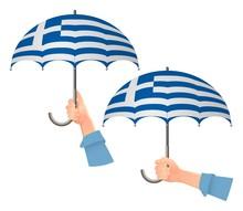 Greece Flag Umbrella