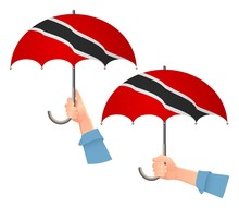 Trinidad And Tobago Flag Umbrella