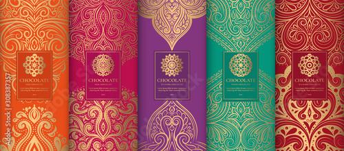 Luxury packaging design of chocolate bars Fototapet