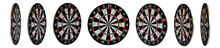 Set Of Colored Dartboards  Wit...