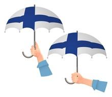 Finland Flag Umbrella
