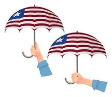 Liberia Flag Umbrella