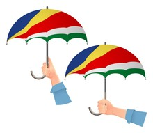 Seychelles Flag Umbrella