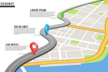 Roadway Infographic. Locations...