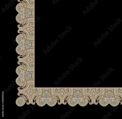 Decorative elegant luxury design.Paisley pattern. Canvas Print