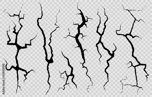 Fototapeta Wall cracks