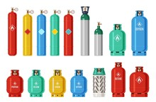 Gas Cylinders. Lpg Propane Con...