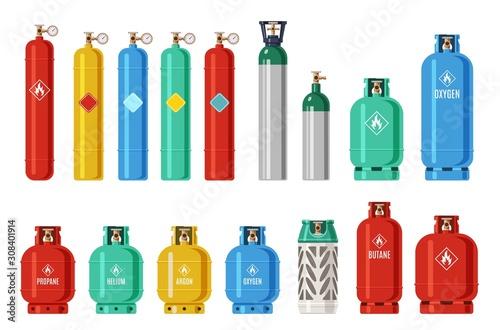 Fotografía  Gas cylinders