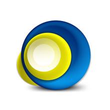 Vector Swirl Circle Banner, 3d...