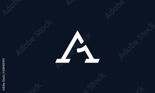 Photo Minimalist line art A1 logo