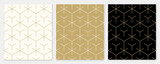 Wzór tła bez szwu linii geometrycznej streszczenie złoty luksusowy kolor wektor. Boże Narodzenie tło.