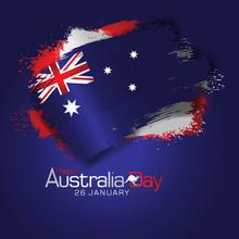 Happy Australia Day Celebration Greeting Background.