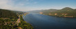 Panoramic view of the Siberian river Yenisei in the vicinity of the city of Krasnoyarsk