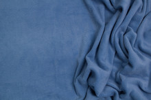 Fleece Fabric Blue Top View. T...