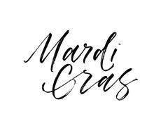 Mardi Gras Card. Hand Drawn Br...