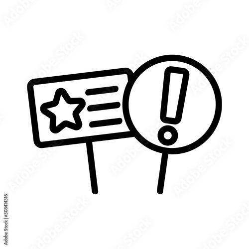 speech protest icon vector Canvas-taulu